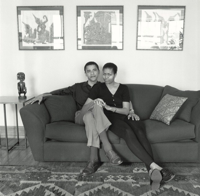 May 26, 1996, Mariana Cook visited Barack and Michelle Obama. -