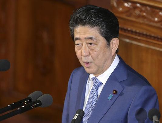 Shinzo Abe, le premier ministre japonais, à Tokyo, le 22 janvier - Koji Sasahara / AP