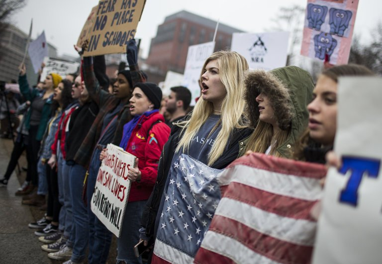 Demonstrators outside the White House last week. -