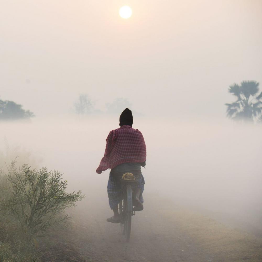 Inde : Brouillard à Kolkata