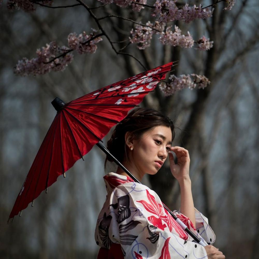 Shanghai : une femme au parc Gucun